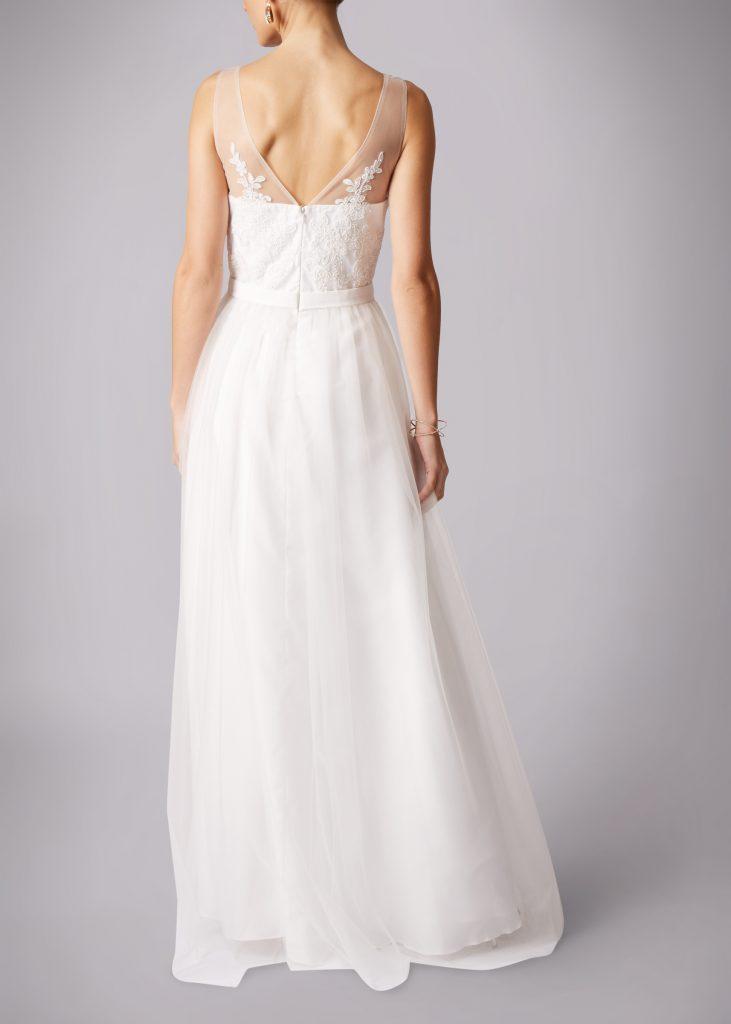 Brautmode Knittlingen- Langes Hochzeitskleid